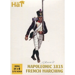 1/72 Napoleonic French Infantry Marching 1815 (24) (HaT)