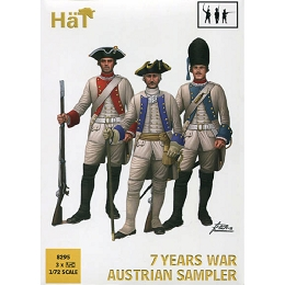 1/72 7 Years War Austrian Sampler (33 & Horse) (HaT)