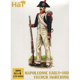 1/72 Napoleonic Early-Mid French Infantry Marching (24) (HaT)