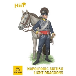 1/72 Napoleonic British Light Dragoons (12 Mtd) (HaT)