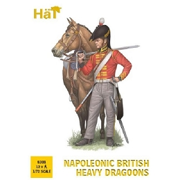 1/72 Napoleonic British Heavy Dragoons (12 Mtd) (HaT)
