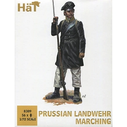 1/72 Prussian Landwehr Marching (56) (HaT)