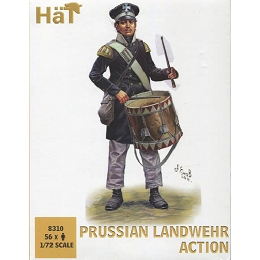 1/72 Prussian Landwehr Action (56) (HaT)