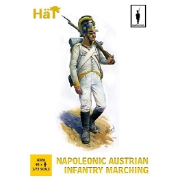 1/72 Napoleonic Austrian Infantry Marching (48) (HaT)