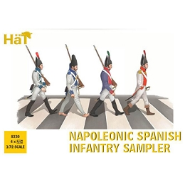 1/72 Napoleonic Spanish Infantry Sampler (38) (HaT)