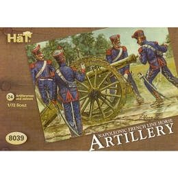 1/72 Napoleonic French Line Horse Artillery (24 w/4 Cannons) (Hat)