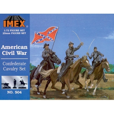 1/72 Confederate Cavalry Civil War Set (IMEX)