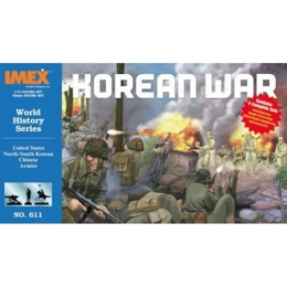 1/72 US North/South Korean & Chinese Army Korean War Figure Set (IMEX) DISCOUNTINUED