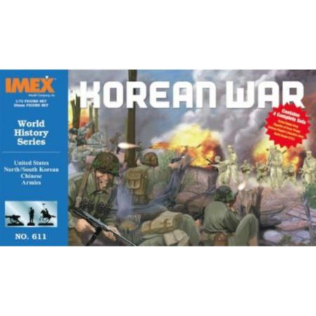 1/72 US North/South Korean & Chinese Army Korean War Figure Set (IMEX)