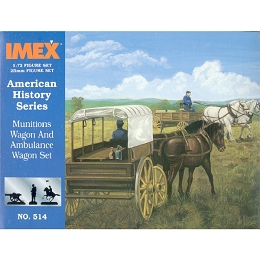 1/72 America Munitions Wagon and Ambulance Wagon (IMEX)