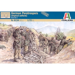 1/72 WWII German Paratroopers Tropical Uniform Box (Italeri)
