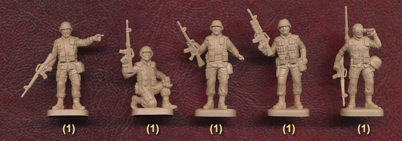 MARS 1//72 USA  Modern American Soldiers US Army Men 15PCs Figures All Different