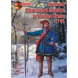 1/72 Thirty Years War Imperial Mercenary Infantry in Winter Dress (Mars)