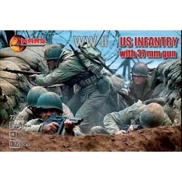 1/72 WWII U.S. Infantry w/ 37mm Guns Box (Mars)