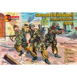 1/72 WWII German Paratroopers (Tropical Uniform) Box (Mars)