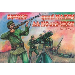 1/72 Soviet Quad Maxim AA MG and Crew Box (Orion)