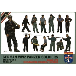 1/72 German WWII Panzer Soldiers (Basic Set 2) Box (Orion)