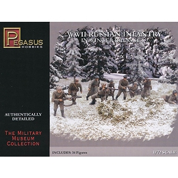1/72 WW2 Russian Infantry (Winter) #2 Box (Pegasus)
