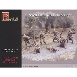 1/72 WW2 French Infantry Box (Pegasus)