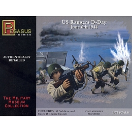 1/72 WW2 U.S. Rangers D-Day Box (Pegasus)