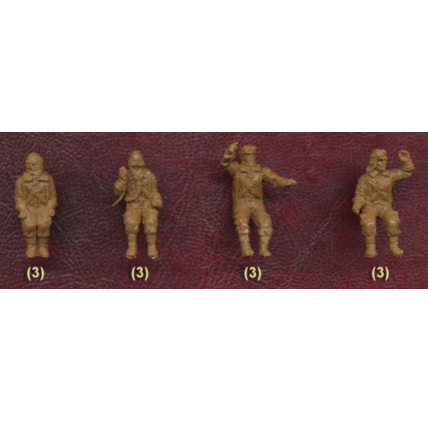 1//72 WWII Japanese Army Pilots /& Ground Crew 42 Figures Red Box Figures 72052