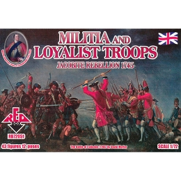 1/72 Jacobite Rebellion Militia and Loyalist Troops (Redbox)