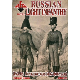 1/72 Napoleonic Russian Light Infantry (Jagers) (Redbox)