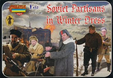 1/72 WW II Soviet Partisans in Winter Dress (STR)