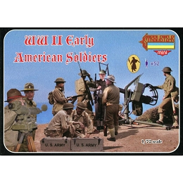 1/72 WW II Early American Soldiers (STR)