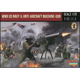 1/72 WWII US Navy with Anti-Aircraft Machine-Gun (STR)