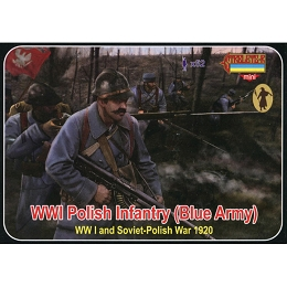1/72 WWI Polish Infantry (Blue Army) (STR)