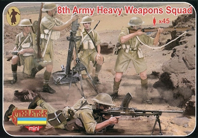 1/72 WW II 8th Army Heavy Weapons Squad (STR)