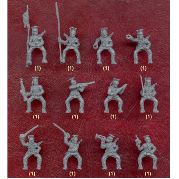 WW1 Unpainted Plastic Figures. STRELETS Set #72 1:72 Scale GERMAN UHLANS