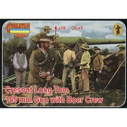 1/72 Boer War - Creusot Long Tom 155mm Gun with Boer Crew STR)
