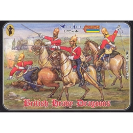 1/72 Crimean War British Heavy Dragoons (STR)