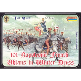 1/72 Napoleonic French Uhlans in Winter Uniform (STR)