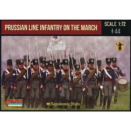 1/72 Napoleonic Prussian Infantry on the March (STR)