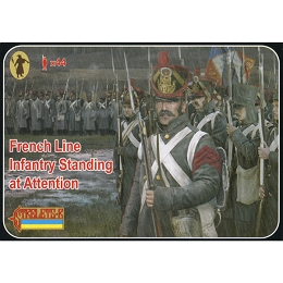 1/72 Napoleonic French Line Infantry Standing at Attention (STR)