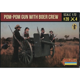 1/72 Anglo-Boer War - Pom-Pom Gun with Boer Crew (STR)