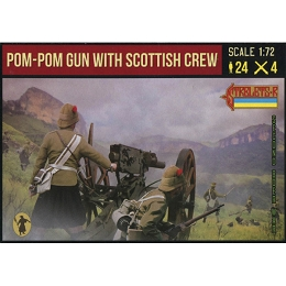 1/72 Anglo-Boer War - Pom-Pom Gun with Scottish Crew (STR)