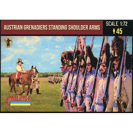 1/72 Napoleonic Austrian Grenadiers Standing Shoulder Arms (STR)