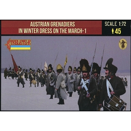 1/72 Napoleonic Austrian Grenadiers in Winter Dress on the March 1 (STR)