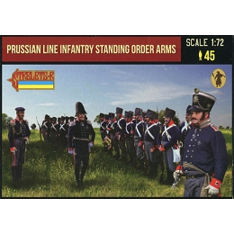 1/72 Napoleonic Prussian Line Infantry in Summer Dress stading Order Arms (STR)