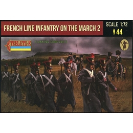 1/72 Napoleonic French Line Infantry on the March 2 (STR)