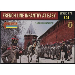 1/72 Napoleonic French Line Infantry at Ease in Winter Dress (Flanking Companies) (STR)