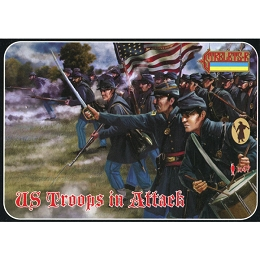 1/72 ACW US Troops in Attack (STR)