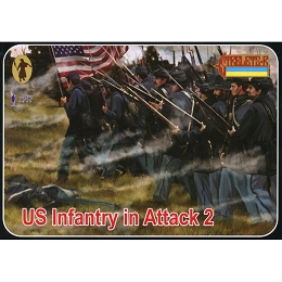 1/72 ACW US Troops in Attack 2 (STR)