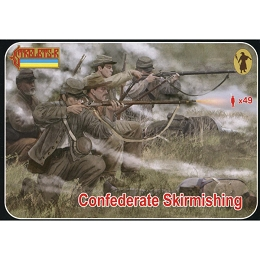 1/72 ACW Confederate Skirmishing (STR)