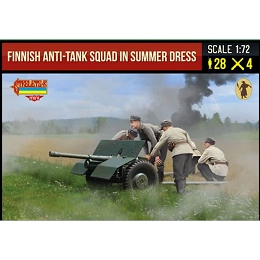1/72 WWII Finnish Anti-Tank Squad in Summer Dress (STR)