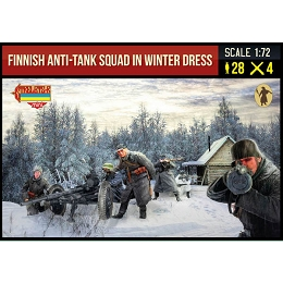 1/72 WWII Finnish Anti-Tank Squad in Winter Dress (STR)